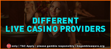 Different Live casino providers 362